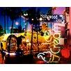 TAF DECOR Neon Hollywood Blvd Graphic Art on Canvas