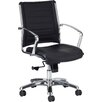 Eurotech Seating Europa Mid-Back Leather Chair with Arms