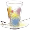 Ritzenhoff 3-tlg. Latte Macchiato Glas -Set Bacione mit Untertasse und Löffel
