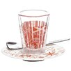 Ritzenhoff Bacino Espresso Glass with Saucer and Spoon (Set of 3)