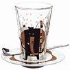 Ritzenhoff Bacione Latte Macciato Glass with Saucer and Spoon (Set of 3)