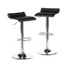 Zipcode Design Backless Adjustable Height Swivel Bar Stool with Cushion (Set of 2)