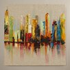 Zipcode Design I Painting Print on Wrapped Canvas