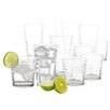 Gibson Great Foundations 16 Piece Bubble Glass Tumbler Set