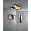 JH Miller Vetro 2 Light Flush Ceiling Light