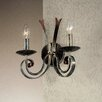 JH Miller Tamel 2 Light Candle Wall Light