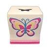 Homewear Linens Butterfly Dots Tissue Box