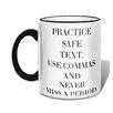 Retrospect Group Practice Safe Text Mug