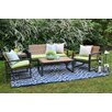 AE Outdoor Connelly 5 Piece Deep Seating Group with Cushions