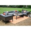 AE Outdoor Manhattan 4 Piece Deep Seating Group with Cushions