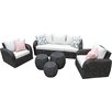 AE Outdoor Sanford 6 Piece Seating Group with Cushions