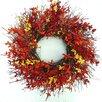 Dried Flowers and Wreaths LLC Firebush Wreath