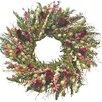 "Dried Flowers and Wreaths LLC 22"" Celosia & Fern Indoor Wreath"