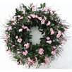 """Dried Flowers and Wreaths LLC 22"""" Pink Rose Wreath"""