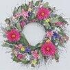 """Dried Flowers and Wreaths LLC Festive Spring 22"""" Silk Wreath"""