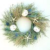 """Dried Flowers and Wreaths LLC Seaglass 22"""" Dried Grasses Wreath"""