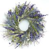 """Dried Flowers and Wreaths LLC 22"""" Visions of Blue Wreath"""
