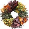 "Dried Flowers and Wreaths LLC 22"" Autumn Wheel Wreath"
