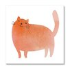 Gallery Direct Kids Art Watercolor Kitty by Guz Anna Painting Print on Gallery Wrapped Canvas