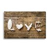 Gallery Direct Coastal 'Love Written in Coral and Shells' Graphic Art on Wrapped Canvas