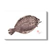 Gallery Direct Japanese 'Flounder Fluke' by Dwight Hwang Graphic Art on Wrapped Canvas