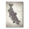 Gallery Direct Japanese 'King Salmon King of the North' by Dwight Hwang Graphic Art on Wrapped Canvas