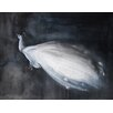 Mai Autumn Peacock by Christine Lindstrom Painting Print in White
