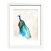 Mai Autumn Peacock by Christine Lindstrom Framed Painting Print