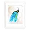 Mai Autumn Peacock II by Christine Lindstrom Framed Painting Print in White