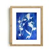Mai Autumn Cyanotype Watercolor by Christine Lindstrom Framed Painting Print