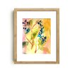 Mai Autumn Botanical Abstract by Christine Lindstrom Framed Painting Print