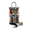 Longden Enterprises Inc 12 Piece Flared Glass Twin Tier Jar Spice Rack Set