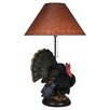 "River's Edge Products Resin Turkey 25"" H Table Lamp with Empire Shade"