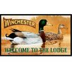 Rockin' W Brand Winchester Welcome to the Lodge Doormat