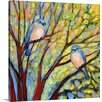 Great Big Canvas Two Bluebirds by Jennifer Lommers Painting Print on Gallery Wrapped Canvas