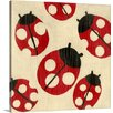 Great Big Canvas Best Friends Ladybugs by Chariklia Zarris Painting Print on Wrapped Canvas