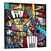 Great Big Canvas 'Checkered Guitar Jam' by Eric Waugh Graphic Art on Canvas