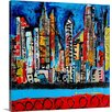 Great Big Canvas City on my Mind by Erin Ashley Painting Print on Canvas