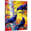 Great Big Canvas Poplar Crows by Marion Rose Painting Print on Wrapped Canvas
