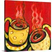 Great Big Canvas 'A Steaming Romance' by Jennifer Lommers Painting Print on Canvas