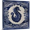 Great Big Canvas Ink Seahorse by Edward Selkirk Graphic Art on Wrapped Canvas