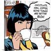 Great Big Canvas Java Comic IV Mini by David Fischer Graphic Art on Wrapped Canvas