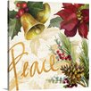 Great Big Canvas Christmas Art Christmas Poinsettia II by Lanie Loreth Graphic Art on Wrapped Canvas