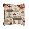 ModShop Bird Cages Linen Throw Pillow