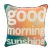 ModShop Good Morning Sunshine Linen Throw Pillow