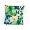 ModShop Tropical Flower Linen Throw Pillow