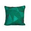 ModShop Emerald Geometric Diamonds Linen Throw Pillow