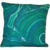 ModShop Marble Emerald Linen Throw Pillow