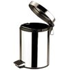 Zodiac Stainless Products 5L Stainless Steel Round Pedal Bin