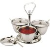 Zodiac Stainless Products Relish 21cm Stainless Steel 3 Bowl Server